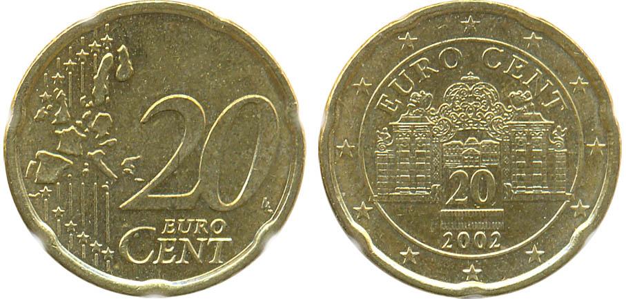 Монета 20 евро 2002 года цена монета туринская плащаница wtyf