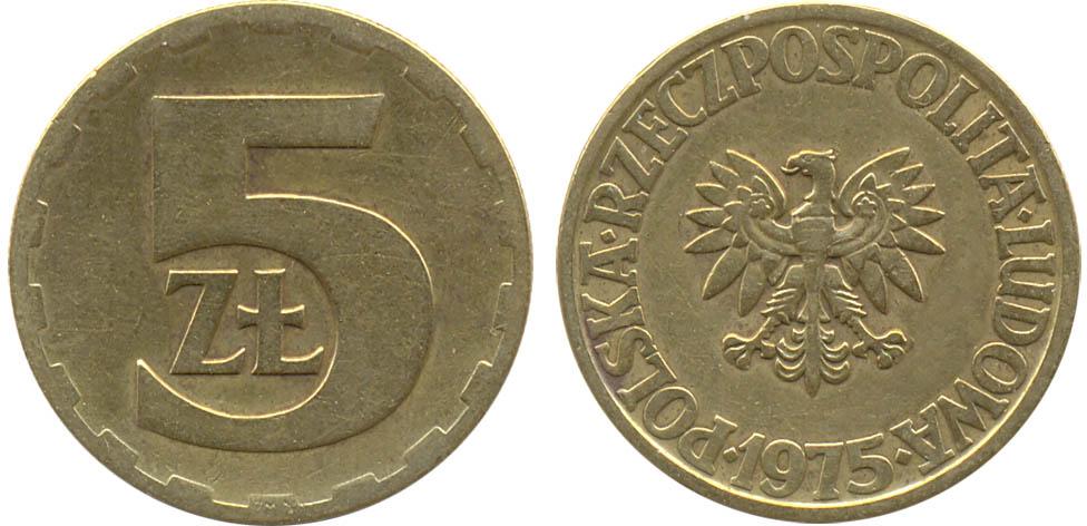 5 злотых 1975 года стоимость
