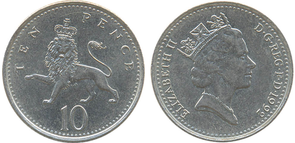 10 pence 1992 цена нашли клад дома