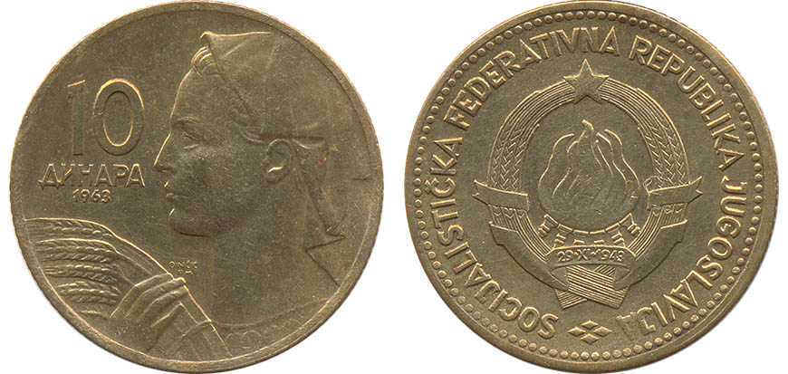 50 dinara Republica de Yugoslavia Yu_10dinar_63